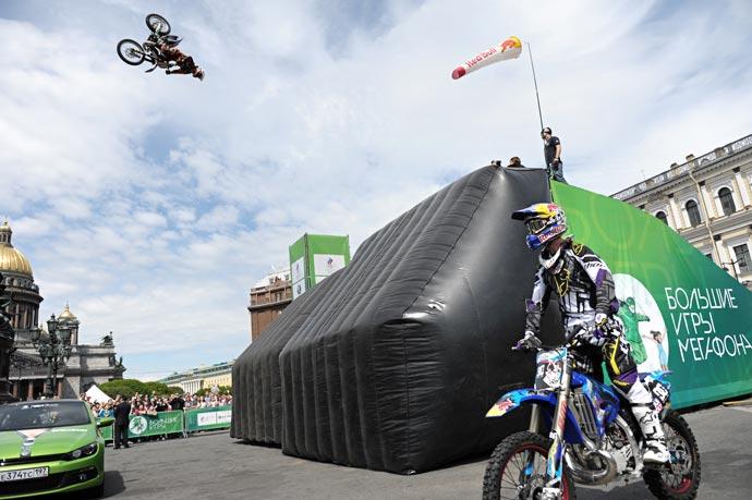 FMX на больших играх Мегафона в День города