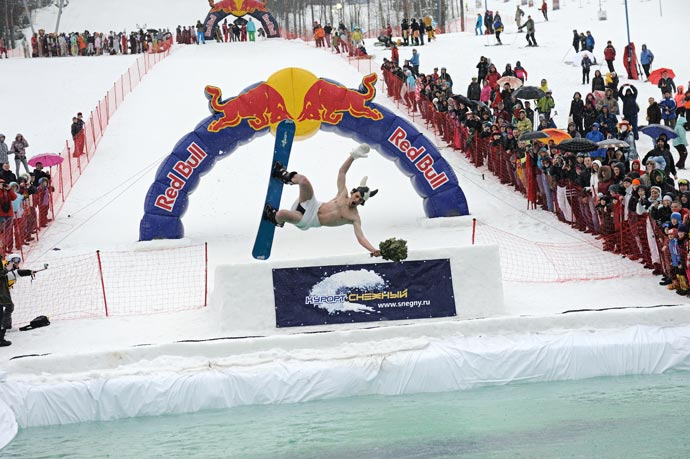 Аква-шоу 2012 Red Bull Jump&Freeze