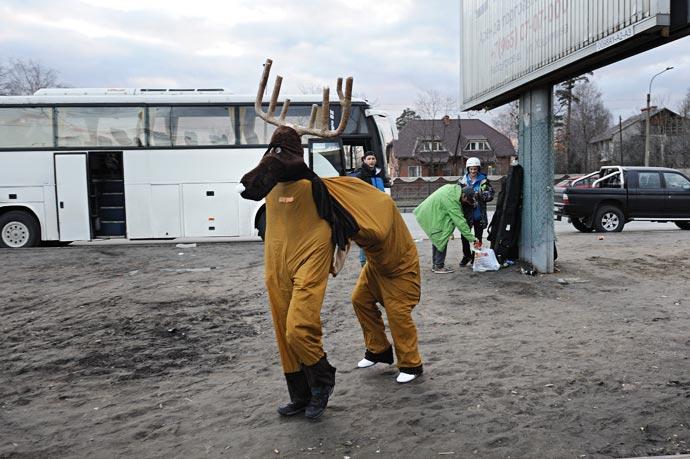 Возвращение лося из Коробицино с Аква-Шоу 2012 Red Bull Jump & Freeze