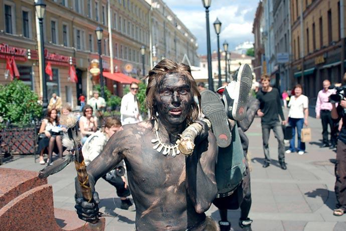 Фотоприколы - Индейцы в городе