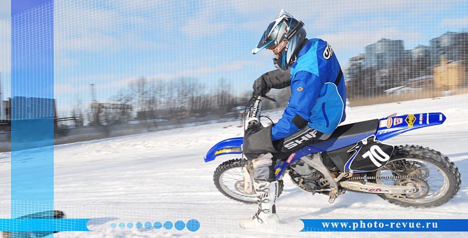 Ледовый мотоспорт.