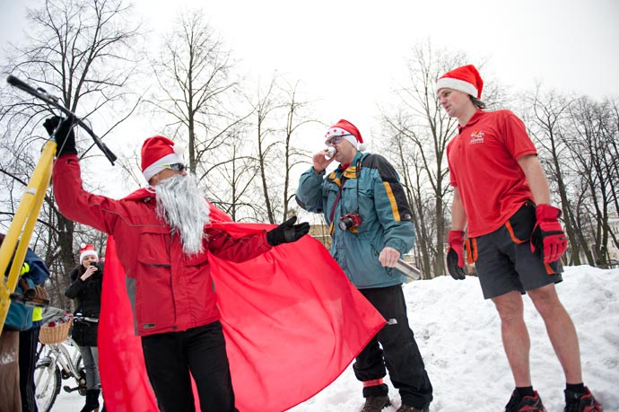 Велопробег Дедов Морозов на Старый Новый Год