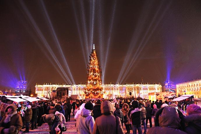 Концерт на площади на новый год