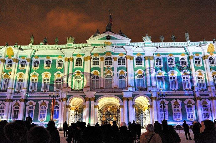 Новый год на Дворцовой Площади (2011), лазерное шоу