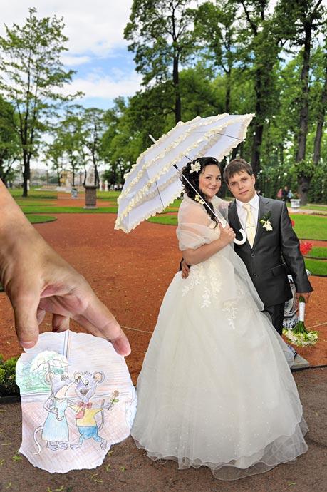 Проект - свадебная фотографика: фотоарт и графика в стиле Бена Хейне