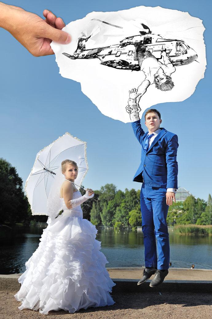 Свадьба - улететь на вертолете
