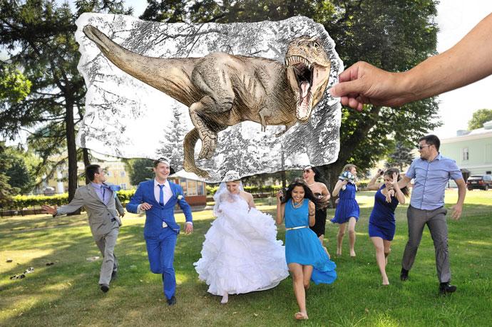 Свадьба с динозавром