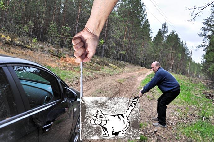 Карандаш против камеры - идея Бен Хайне, фотограф Сергей Юрченко, художник Ли Эймис