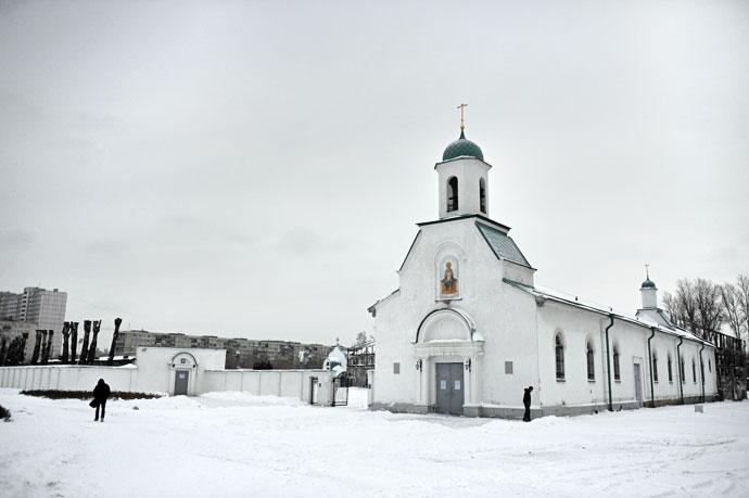 Церкви зимой