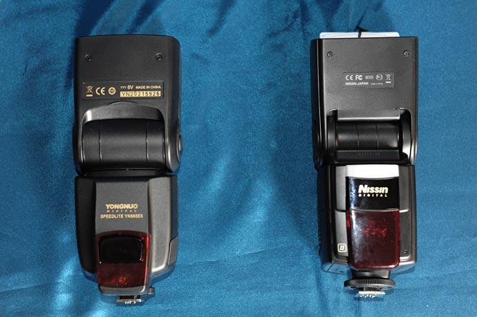 Альтернативные вспышки Yongnuo EN-565 EX и Nissin Di866 Mark II для Nikon