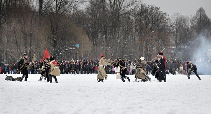 Реконструкция в парке Екатерингоф 23 февраля 2013 года