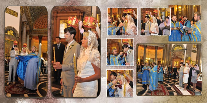 Фотокнига - Венчание в церкви (Казанский собор)