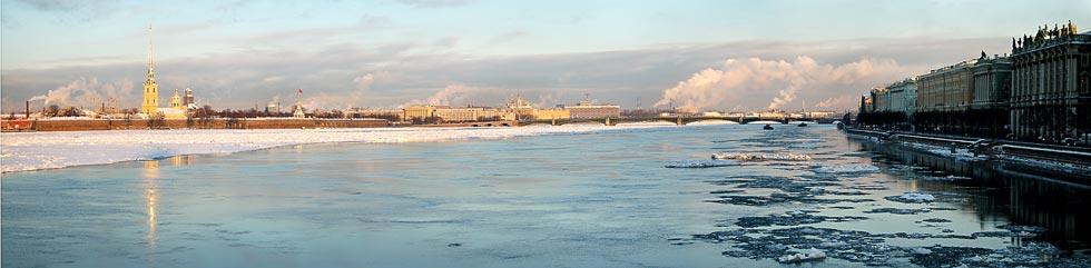 Зима. Невские берега