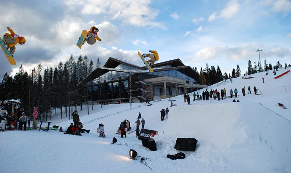 «Снежное» фото гонолыжного спорта