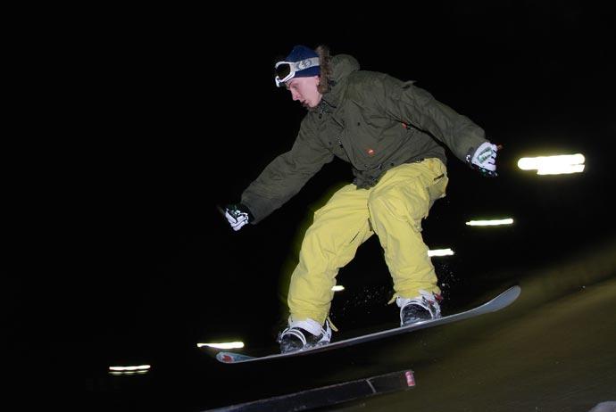Сноубордист. Скорость