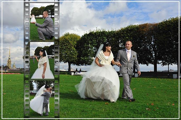 Коллаж с фотопленкой - Свадебный