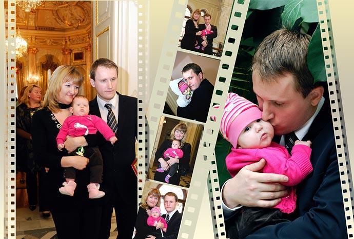 Коллаж с фотопленкой - во Дворце Малютки.